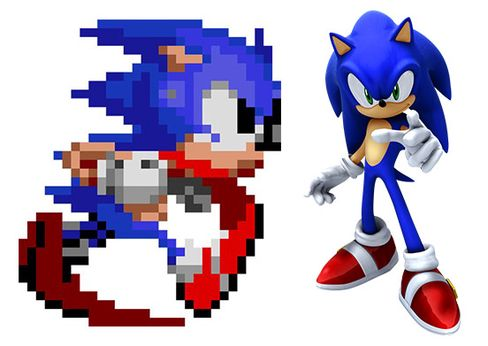Sonic 16-bit vs Sonic anno 2014.