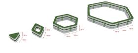 Hele konstruksjonen bygger på disse fire grunnmodulene.