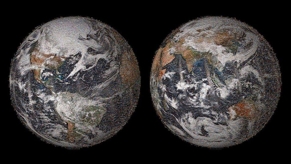 Dette bildet av jordkloden består av 36 000 selfie-bilder