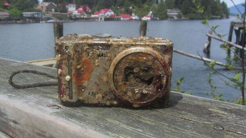 Slik så kameraet ut etter to år på havbunnen.