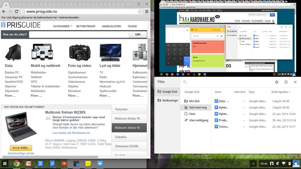 Slik ser Chrome OS ut.
