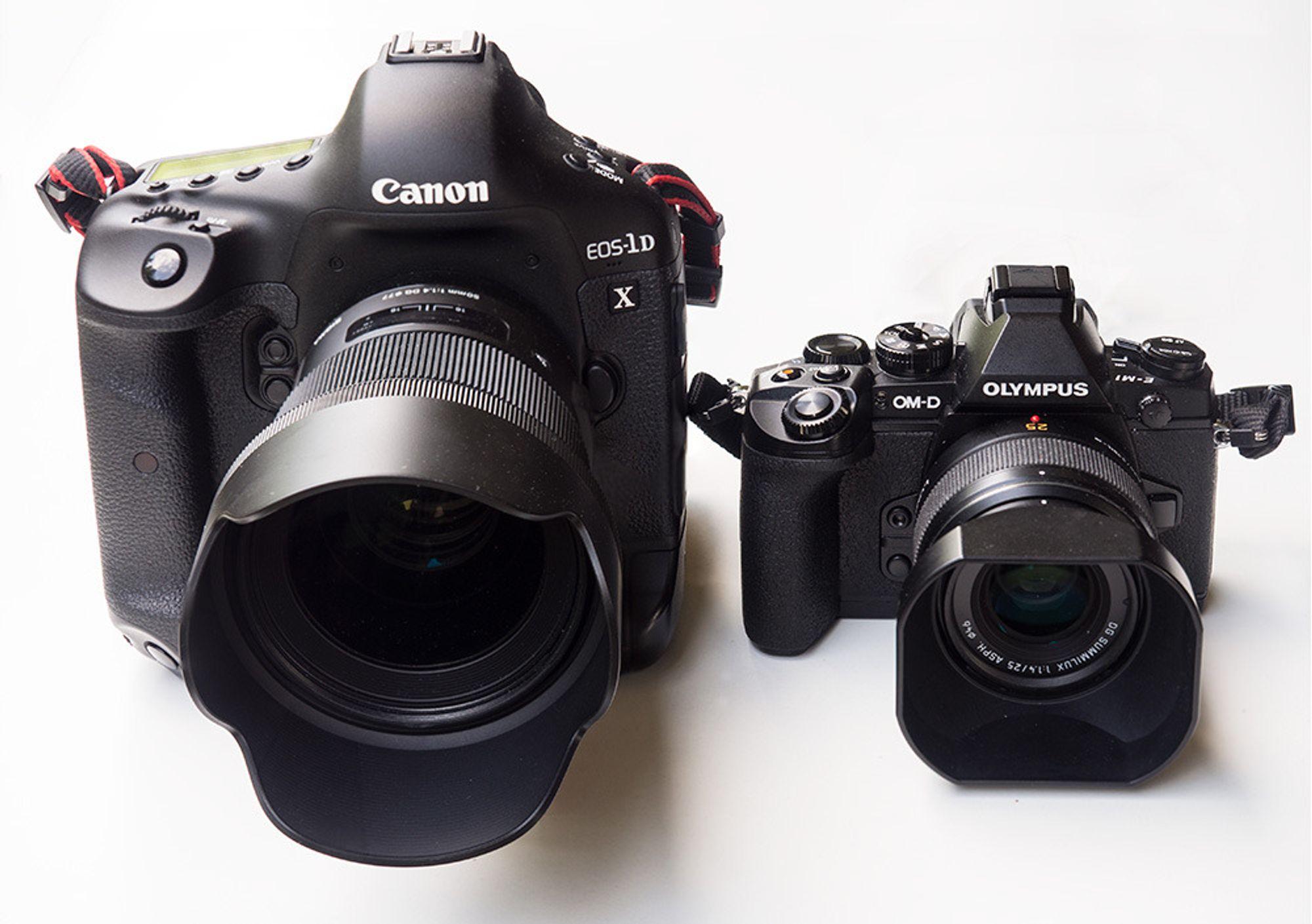Sigma 50mm Art F1.4 DG HSM på Canon 1D X og Panasonic 25mm F1.4 på Olympus E-M1