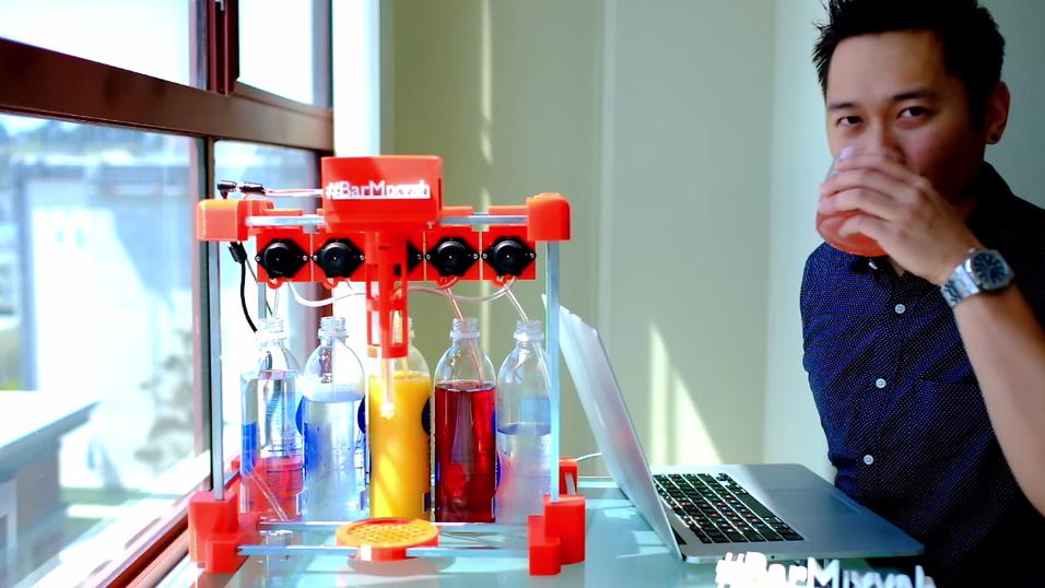 Nå kan du 3D-skrive din egen automatiske drinkmikser