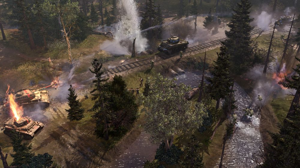 Det nye skogsområdet i Company of Heroes 2: The Western Front Armies (Skjermbilde: Relic Entertainment).