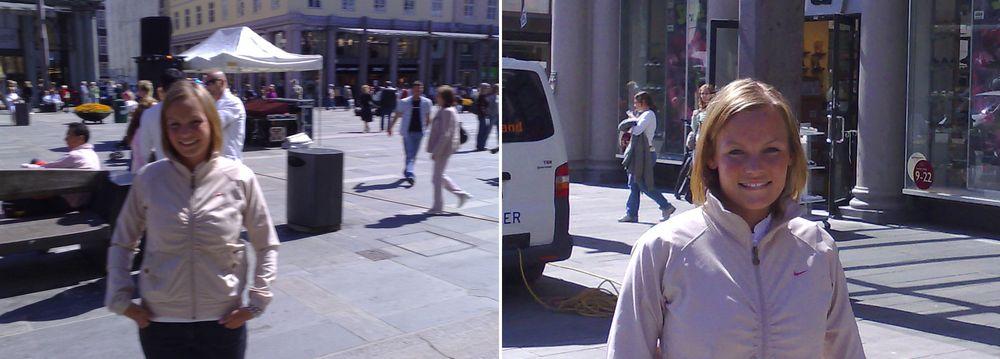 På bildet til venstre har vi bevegd på kameraet mens vi knipset. Ingen tvil om hvilket bilde som er best.