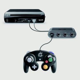 Wii Us adapter for GameCube-kontrolleren.