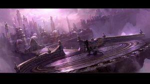 Konseptkunst fra Warcraft-filmen.
