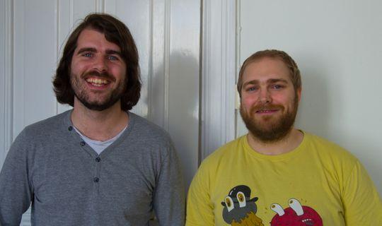 Kristoffer Jetmundsen (t.v.) og Håvard Christensen var to av de ansatte i Tumbleweed Interactive.