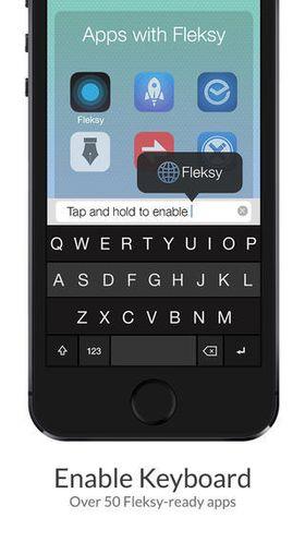 Over 50 iOS-apper skal fungere med Fleksy. Nå kommer snart et tastatur som skal fungere også i Apples egne apper.