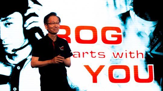 Jonney Shih, styrelederen i Asus, åpnet showet med å understreke at selskapet fokuserer på design og ytelse med sin ROG-serie.