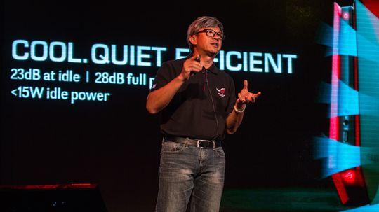 Asus ROG GR8 er enda mindre og mer stillegående enn ROG G20, og skal ifølge Hsieh kunne drive PC-spill som en fullverdig stasjonær selv om den er på størrelse med en konsoll.