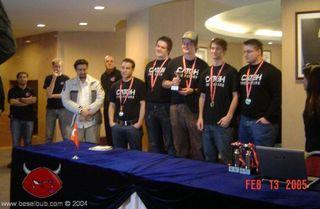Her har Catch-Gamer akkurat vunnet Counter-Strike-turneringen under CPL World Tour 2005 i Tyrkia. Fra venstre: Jonas «Luke», Geir-Stian «juve9le» Ravndal Svendsen, Jonas Alsaker «bsl» Vikan, Jon Thomas «Day» Rudstrøm og Tore «Juzam» Aronsen (Juzam).