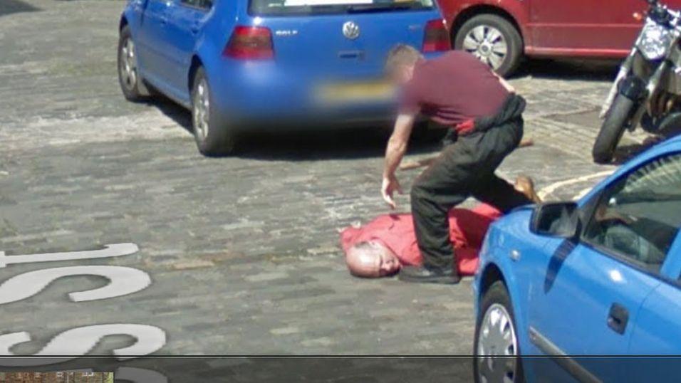 Her «dreper» han kompisen på Google Street View