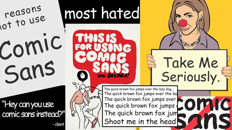 """Et bildesøk på Google etter """"Comic Sans"""" sier sitt."""