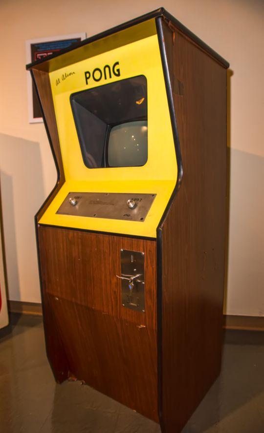 Pong-maskinen hadde tydelig tonal lyd.