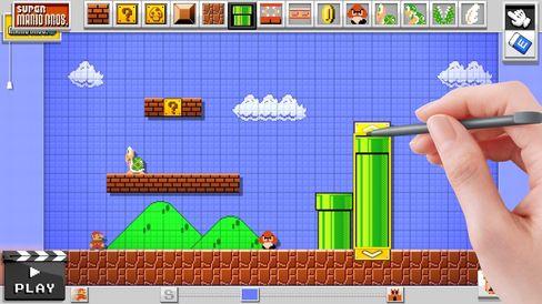 I Super Mario Maker kan du lage dine eigne Mariobrett.