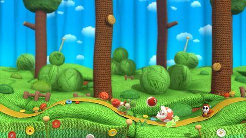 Yoshi gjer seg klar for eit sukkersøtt eventyr.