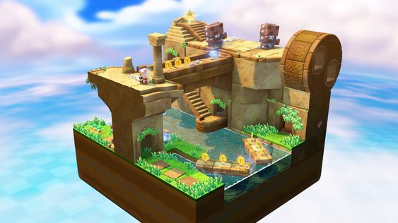 Captain Toad: Treasure Tracker minner om Rubiks kube.