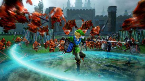 Link svingar sverdet som aldri før i Hyrule Warriors.