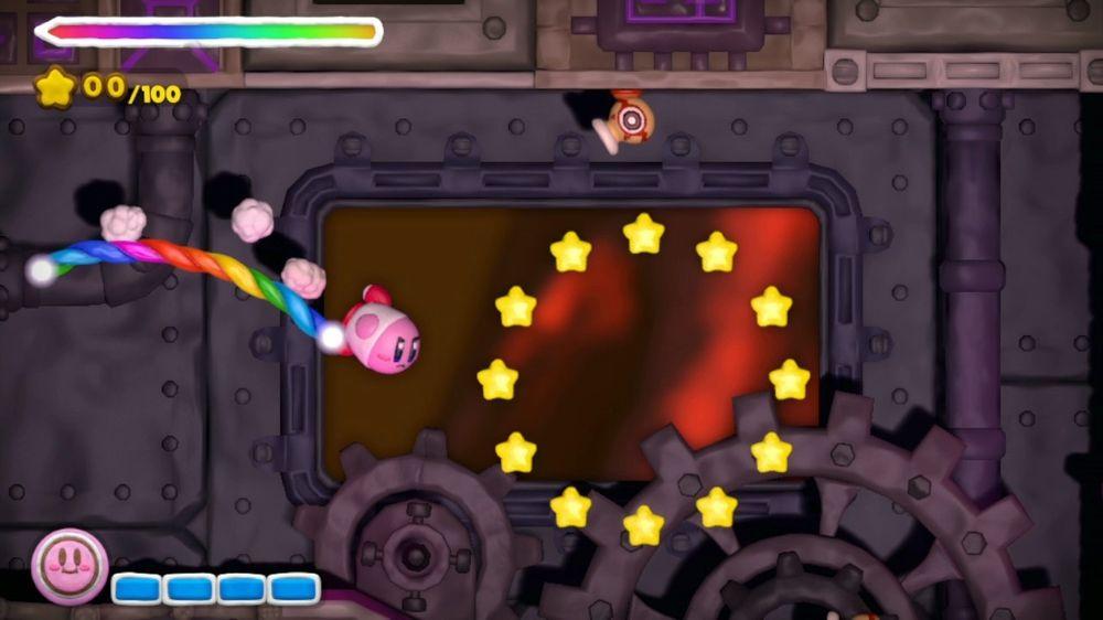 Å styre Kirby som rakett er kanskje det verste med dette spillet.