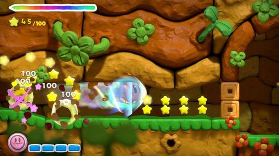For hver hundrede stjerne kan du sende Kirby avgårde.
