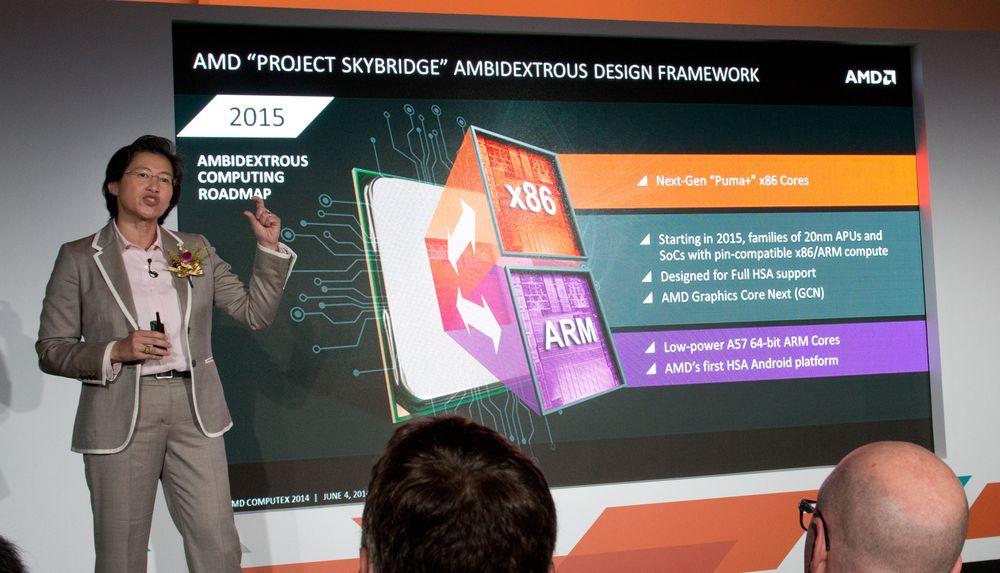 Lisa Su har stor tro på ARM og x86 i samme prosessorenhet.