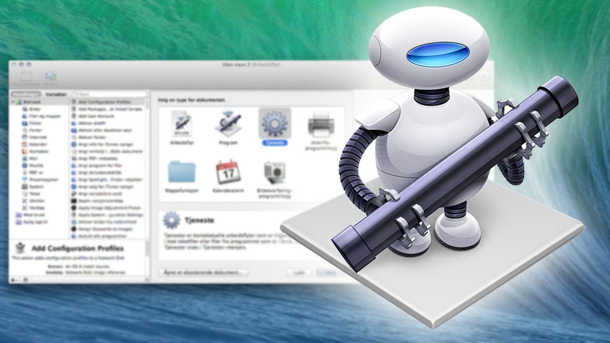 Automator lar deg automatisere en rekke kjedelige og repetitive oppgaver, i tillegg til å tilby helt nye funksjoner.