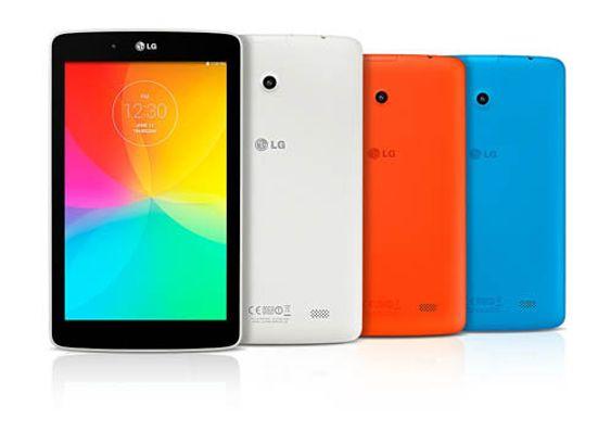 Dette er fargene 7- og 8-tommerne av LG G Pad vil komme i. 10-tommeren finnes kun i svart og rødt.
