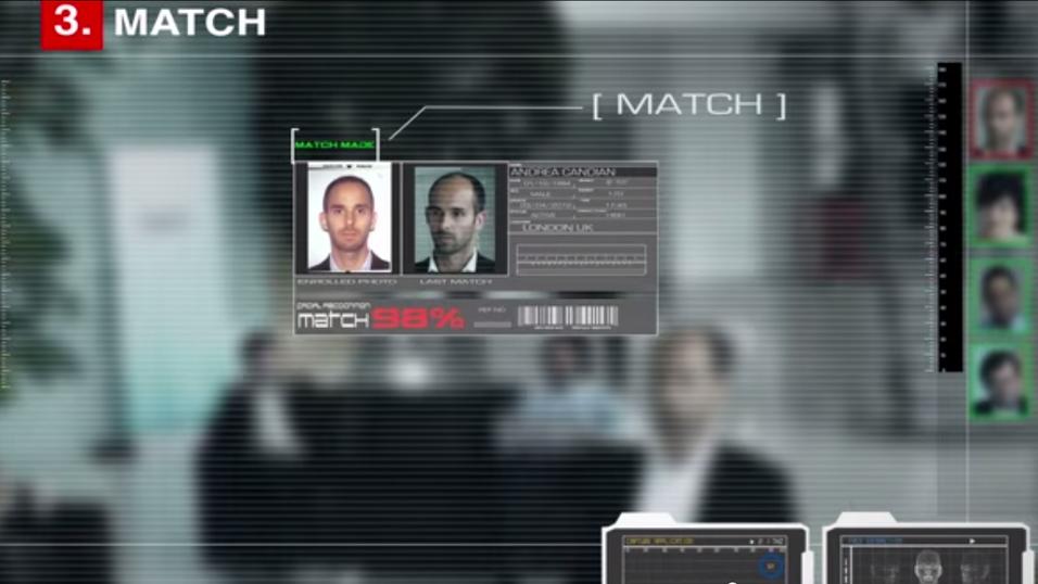 Bildet er hentet fra demonstrasjonsvideon av NeoFace- teknologien. Mannen på bildet er ikke raneren.