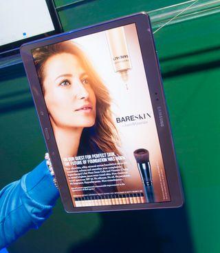 Samsung mener 10,5 tommer og 16:10-aspekt er mer velegnet for magasiner enn andre skjermstørrelser.