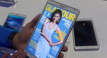 Se videodemonstrasjon av Galaxy Tab S