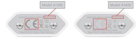 Laderen til venstre er den med feil. Har du modellnummer A1400 (til høyre), er du trygg.
