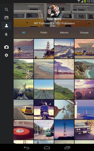 Flickr-appen.