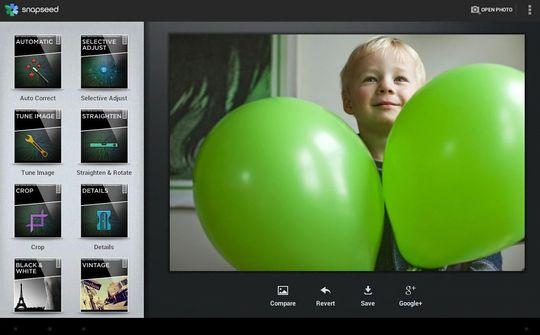 Snapseed fra velkjent Nik Software. .