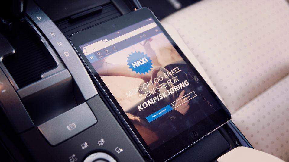 Haxi-appen er ikke populær blant norske taxisjåfører, men får stadig flere brukere.