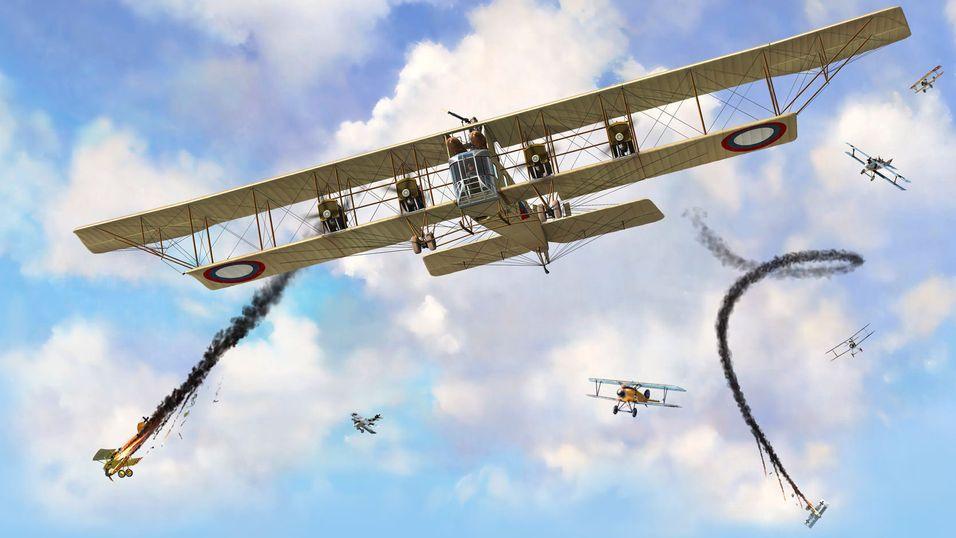 Fly firemotors monstre fra første verdenskrig
