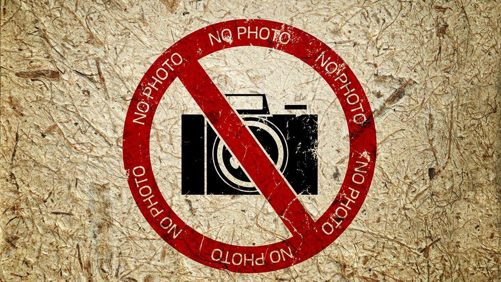 Vet du hvor du kan du nektet å fotografere?