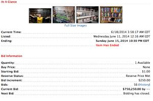 750 250 dollar skal samlingen være verdt.