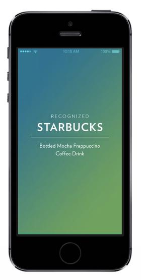 Den medfølgende appen gir deg mer informasjon om det du drikker, og lagrer det for senere sjekking.