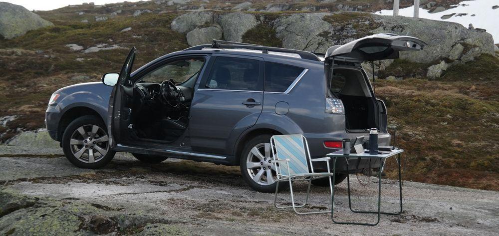 Samtlige målepunkter er tilgjengelige med bil, i alle fall om sommeren.