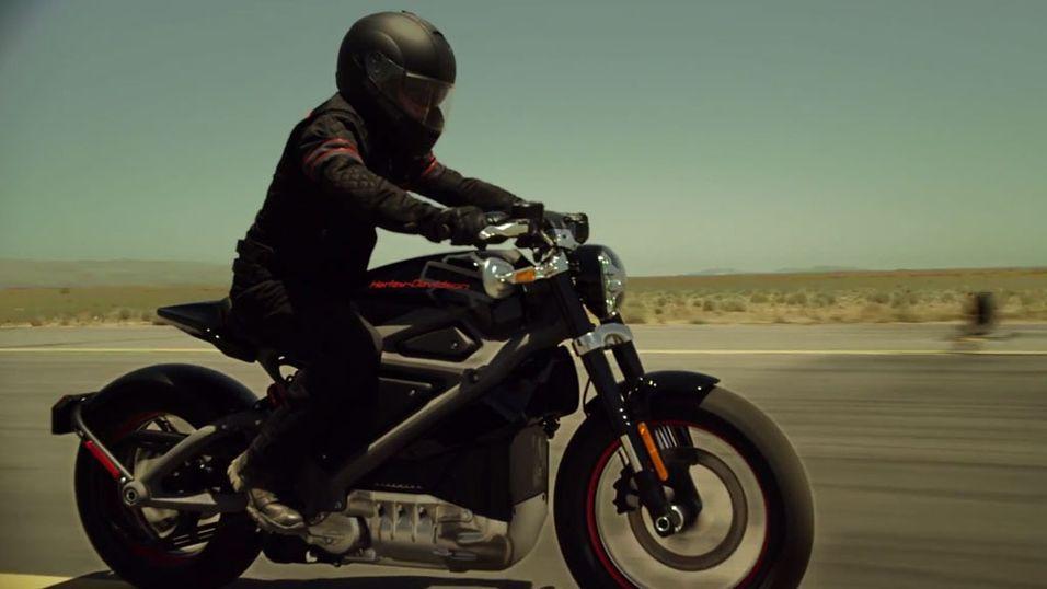 Harley-Davidson lanserte el-motorsykkel!