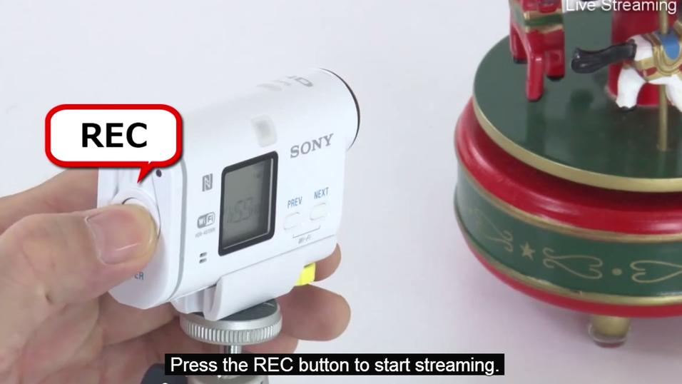Nå kan du strømme video med Sonys actionkameraer