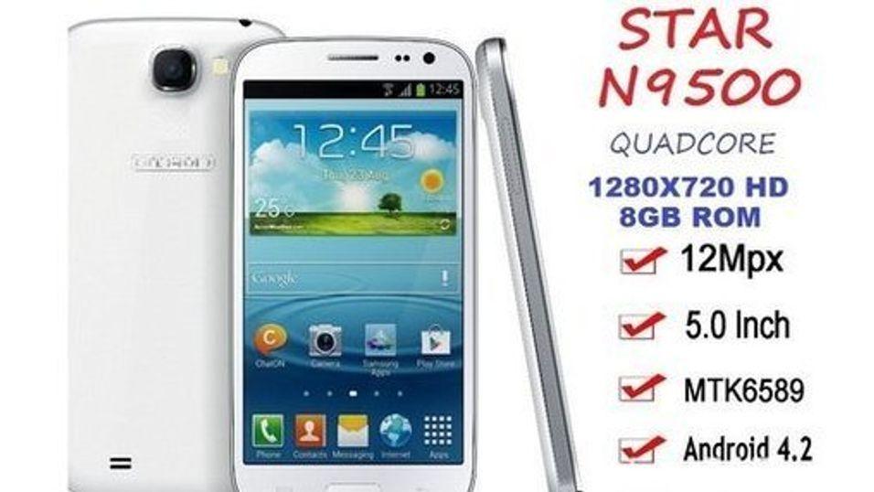 eBay har stoppet salget av Star N9500 som er svært lik Samsungs Galaxy S4.