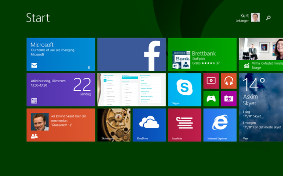 Microsofts «Modern UI» gir deg en vel så god brukeropplevelse som andre nettbrett-operativsystemer. .