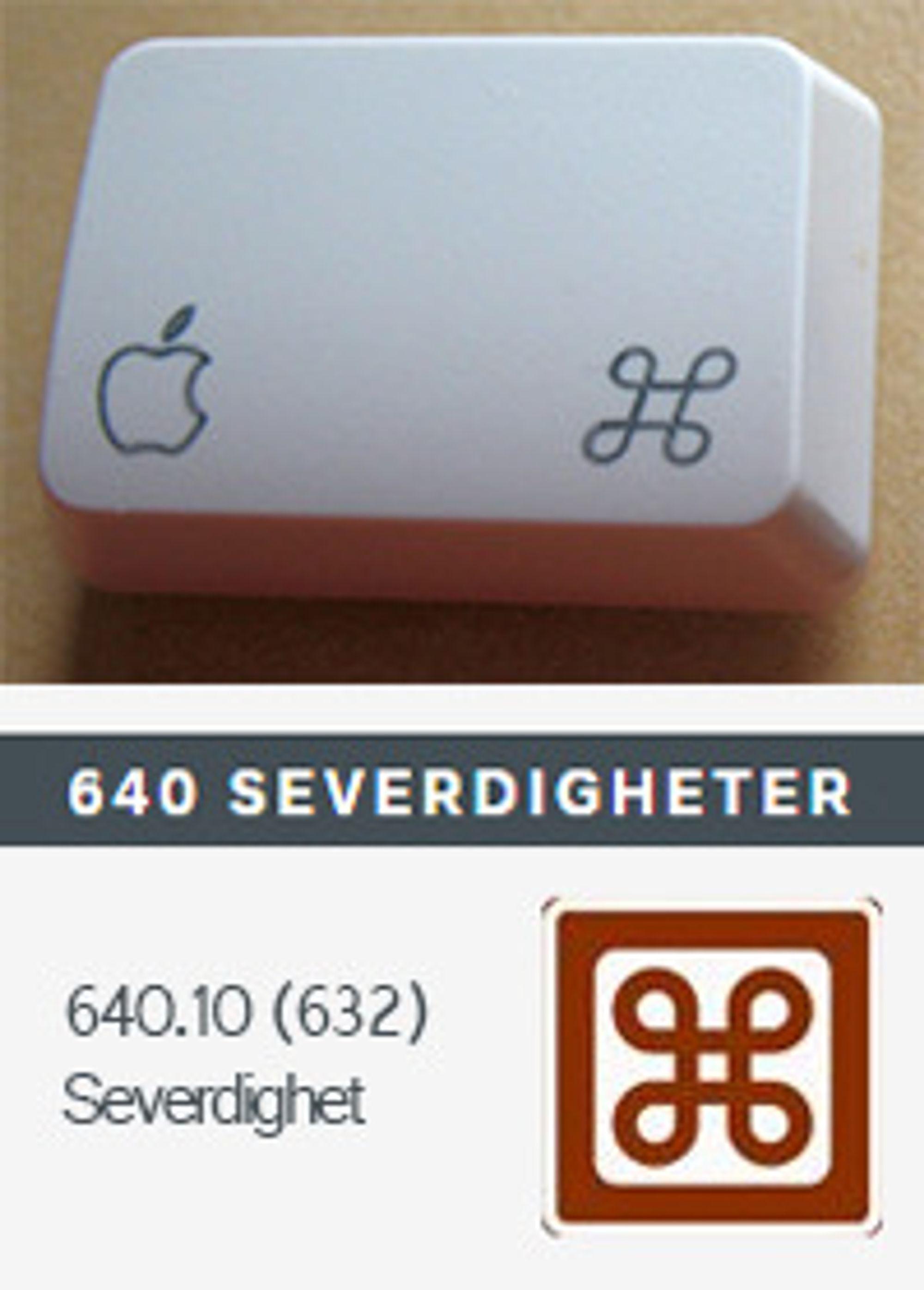 Samme symbol, flere bruksområder.