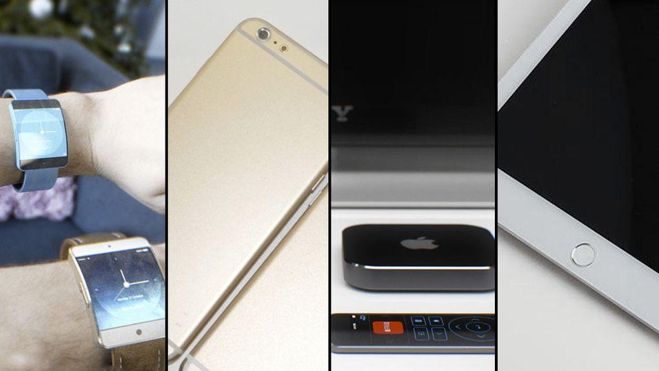 Ifølge ryktene vil se både en iWatch, iPhone 6, ny Apple TV og iPad Air 2 til høsten.