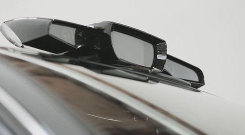 Sensorsystemet monteres på bilens tak.