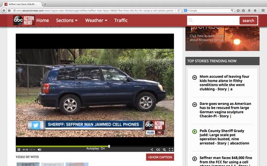 """I denne blå Toyota Highlanderen skal 60-åringen ha gjemt """"jammeren"""" sin."""
