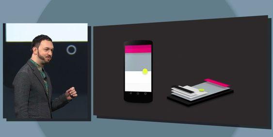 Matias Duarte er visepresident for design i Android-plattformen, og viste i kveld frem den nye designen Android L vil få.