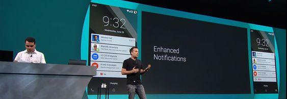 David Burke er sjefsutvikler for Android-prosjektet, og viste blant annet frem en ny måte å presentere varslinger på låseskjermen.